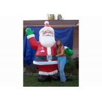 Wholesale Giant Inflatable Cartoon Characters / Inflatable Santa Claus for Christmas Promotion from china suppliers