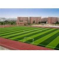 Wholesale Less Infill Fitting Artificial Grass , Ball Rolling Soccer Artificial Turf from china suppliers