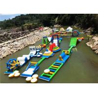 Wholesale PVC Inflatable Aqua Park With Obstacles Anti - UV Heat Resistance Material from china suppliers
