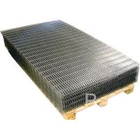 Black Iron Welded Wire Mesh Panels Square Grid For Building / Agricultural / Industrial