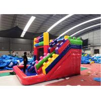 Wholesale Outdoor Inflatable Bounce House Combo , Triple Play Moonwalk Double Slide Combo from china suppliers
