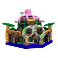 Quality Pink Octopus Pirate Bouncy Castle Playground 6 * 6 * 5.5 Meters With Transporting Bag for sale