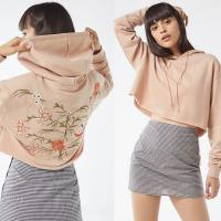 Wholesale Custom Cropped Hoodies Sweatshirts Embroidered from china suppliers