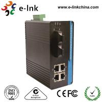 Wholesale Din Rail / Wall Mounting Industrial Ethernet Media Converter 4G + 2 SC Gigabit Ethernet Switch from china suppliers