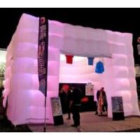 Quality Outdoor Inflatable Cube Tent With Led Lights For Outlets 15m X 15m for sale