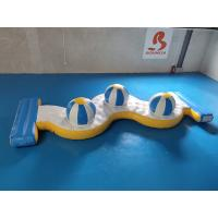Quality 0.9mm PVC Tarpaulin Inflatable Water Park Crazy Water Games 3 Caps for sale