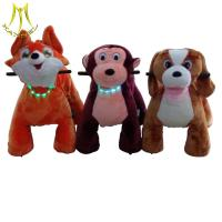 Quality Hansel  coin operated motorized plush animals electric riding toys electric riding horse toy for sale