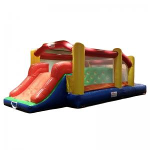 China Inflatable Bouncer Obstacle Trampoline Kids Party Rental Inflatable Jumping House on sale