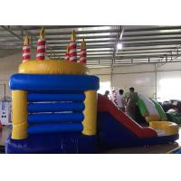 Indoor Children Birthday Candle Inflatable Bounce House Combo With Slide 3 Years