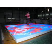Wholesale P9mm Waterproof LED Light Up Floor Tiles , Full Color Wedding Led Dance Floor from china suppliers