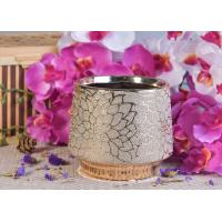 Wholesale 690ml Gold Electroplated Ceramic Candle Holder With Flower Pattern from china suppliers