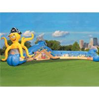 Wholesale Colorful Inflatable Sports Games Tunnel , Fun Inflatables Obstacle Course Games For Kids from china suppliers