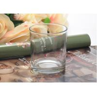 Quality Home Interiors Clear Glass Votive Candle Holders Tall Lead Free for sale