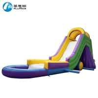 Colorful Kids Inflatable Water Slide Waterproof With Painting / Sewing