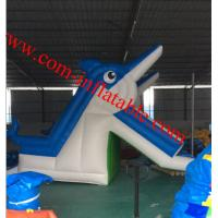 Wholesale large inflatable dolphins water slide pool inflatable water slide for kids and adults from china suppliers