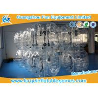 Wholesale TPU black / Clear Inflatable Bubble Ball with CE SGS Certification inflatable human ball from china suppliers