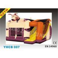 Quality EN14960 Plato 0.55mm PVC Customized Inflatable Combo Bouncers YHCB-007 with for sale