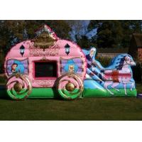China 12' x 18' Pink Princess Carriage Castle Inflatable Combo For Girl's Birthday Party on sale