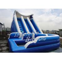 China Kids Outdoor Backyard Inflatable Water Slides For Rent , Waterproof Inflatable Slide on sale