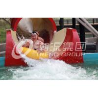 China Space Bowl Water Slide Games , Fiberglass Pool Slides 30mx72m Floor Space on sale