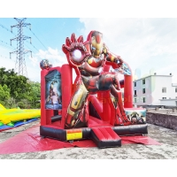 Wholesale Inflatable Commercial Bouncy Castles Iron Man Jumping House from china suppliers