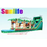 Wholesale Huge Double & Triple Stitches Outdoor Inflatable Long Water Slide With Bouncy Pool from china suppliers