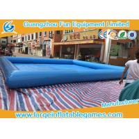 Quality Multi Color Water Toys Inflatable Paddling Pool With Logo Printing , 8 * 8m for sale