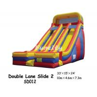 Wholesale 10m * 4.6m * 7.3m durable Inflatable Double Lane Slide For Kids Having Fun from china suppliers