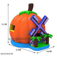 Quality Popular Inflatable Bouncy Castle Pumpkin Bouncer House Use Pvc Tarpaulin Material for sale