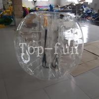 Wholesale No Toxicity large inflatable belly bumper ball , Blue Inflatable Toy bubble bumper balls for kids from china suppliers