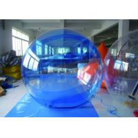 China Blue Inflatable Water Walking Ball , Inflatable PVC Water Ball With German Zipper on sale