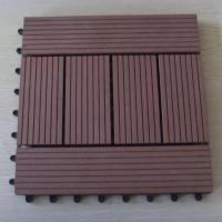 Wholesale Brushed / Embossing Wood Patio Tiles , Patio Garden Floor Decking Tiles For Wall Decoration from china suppliers