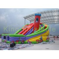 China Great  Inflatable Dry Slide Paradise With Castle / Turning For Kids Sliding Fun on sale