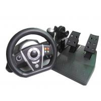 Quality Fashion PS2 / PS3 Vibration Large Video Game Steering Wheel With Foot Pedal for sale