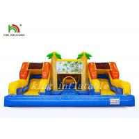 Wholesale Waterproof PVC Inflatable Water Slide With Pool / Bouncer Combo Playground from china suppliers