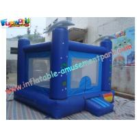 China Small Dolphin Commercial Bouncy Castles , Inflatable Jumping House on sale