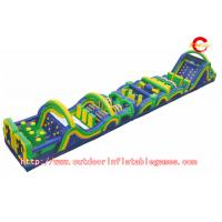Buy cheap Racing And Climbing Outdoor Inflatable Pool Obstacle Course For Kids Game from wholesalers