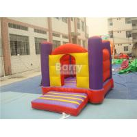 China Customized Size Home Inflatable Bouncy Castle 0.55mm PVC Tarpaulin Double Stitching on sale