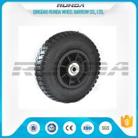 Plastic Rim Pneumatic Rubber Wheels SGS , 8 Inch Pneumatic Wheels For Trolleys