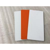 Wholesale White / Sliver Outdoor Aluminum Sign Panels 4mm Thickness With Fire Resistance from china suppliers