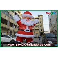 Wholesale Custom Height Inflatable Holiday Decorations , Outdoor Inflatable Santa Claus from china suppliers