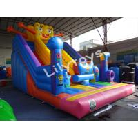 Wholesale 0.55 Mm Plato Pvc  Customized Size Spongebob Attractive Big Inflatable Slide Rental from china suppliers