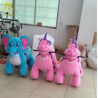 China Hansel  hot-selling kids animal horse riding machine for sale plush unicorn large ride in mall on sale