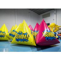 China 2.5m Inflatable Water Floating Marker buoys With Logo Yellow / Pink on sale