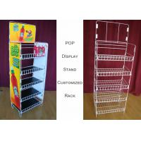 Wholesale Customize Size Wire Shelf Display Rack  / Graphic Side POP Wire Display Stand from china suppliers