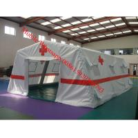 China White Inflatable Medical Tent Inflatable Emergency Tent on sale