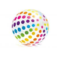 """Wholesale Jumbo Inflatable Beach Ball 42"""" Large Diameter Crystal Clear-Translucent Dots from china suppliers"""