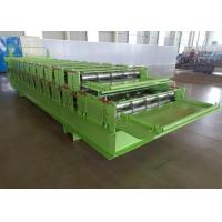 Buy cheap Steel Sheet Profile Tile Wall Panel Double Layer Roll Forming Machine Feeding from wholesalers