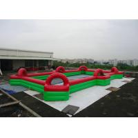 Wholesale Commercial Inflatable Football Game / Soccer Field Sports Equipment With 0.45mm - 0.55mm PVC from china suppliers