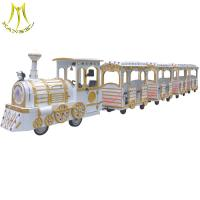 Wholesale Hansel  high quality large  24 seats amusement trackless tourist train for sale from china suppliers
